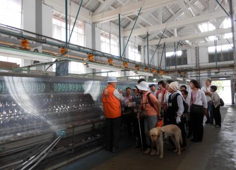 富岡製紙工場見学の写真