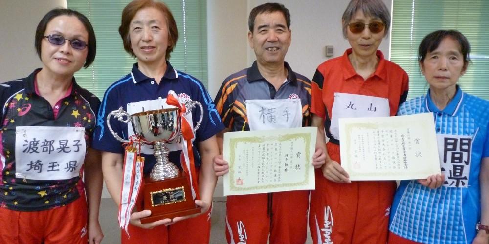 【スライド写真2】サウンドテーブルテニスで優勝