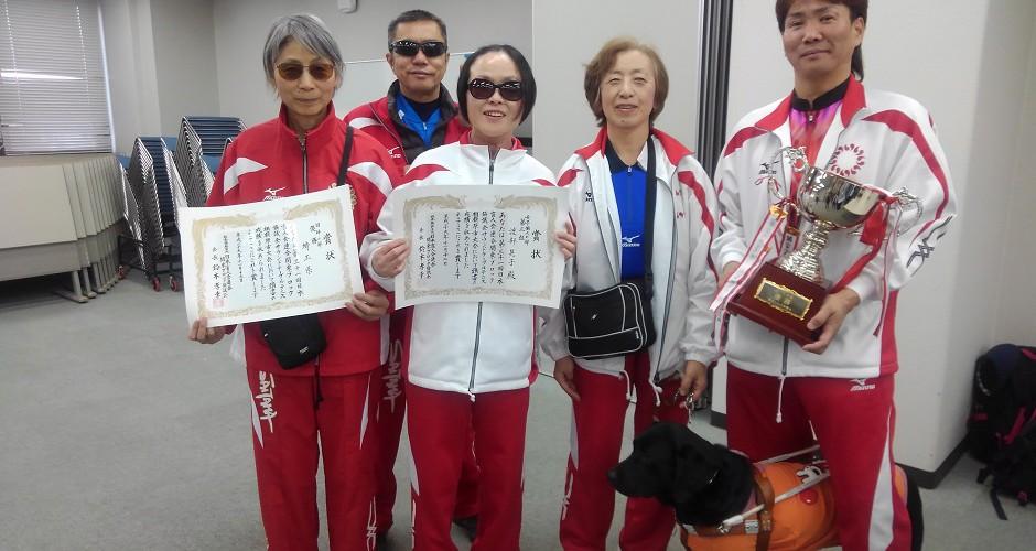 【スライド写真9】サウンドテーブルテニス大会 団体戦二連覇