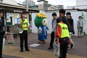 桶川駅街頭での声かけ